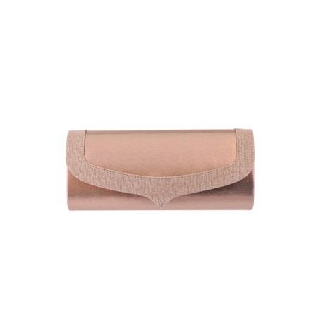 Barino Rose Gold Shimmer Detail Clutch Bag