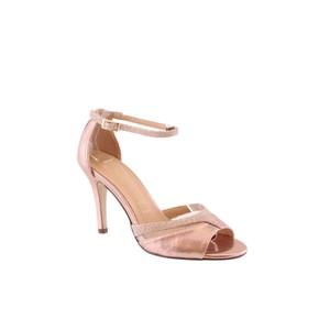 c4bc14d08fdd Barino Rose Gold Ankle Strap Mid Heel Shoe