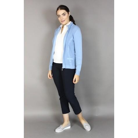 Twist Blue Zip Up Knit