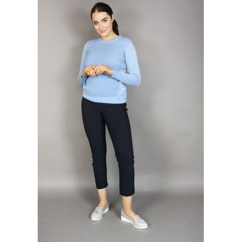 Twist Blue Round Neck Knit
