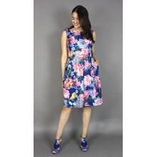 Scarlett Blue & Red Floral Print Dress