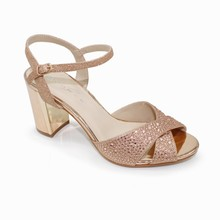 Lunar Rose Gold Block Heel Glam Sandal