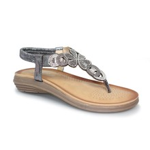 Lunar Pewter Toe Post Soft Sole Sandal