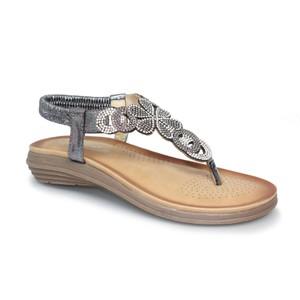 Lunar Pewter Toe Post Soft Sole Sandal
