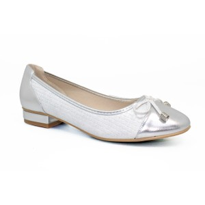 Lunar Silver Pump Toe Cap Style Shoe