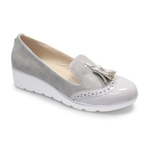 Lunar Grey Tassel Front Casual Shoe
