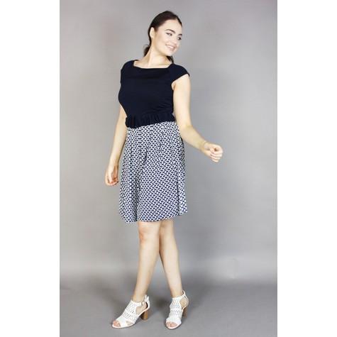 Zapara Navy & Check Pattern Dress