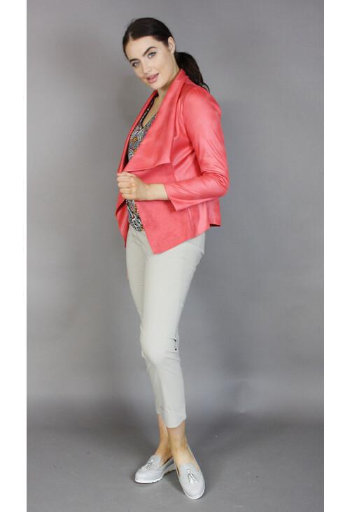 Sophie B Coral Crop Open Jacket