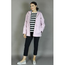 Independent C Pink Hooded Rain Coat