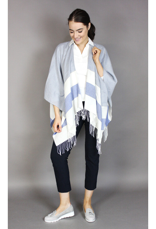 Twist Italian Made Light Grey Fringe Scarf