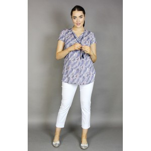 Twist Lilac Mini Flower Print Top