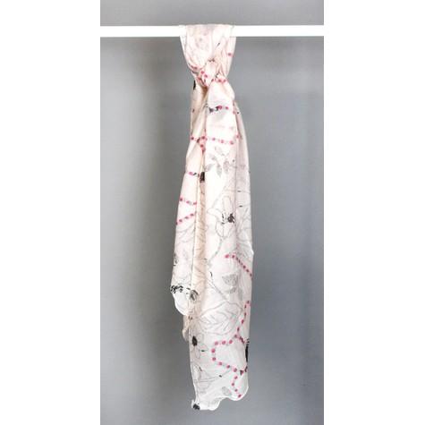 Best Angel Rose Faint Pattern Print Scarf