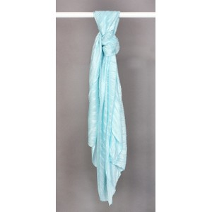 Best Angel Aqua Blue Shimmer Pleat Scarf