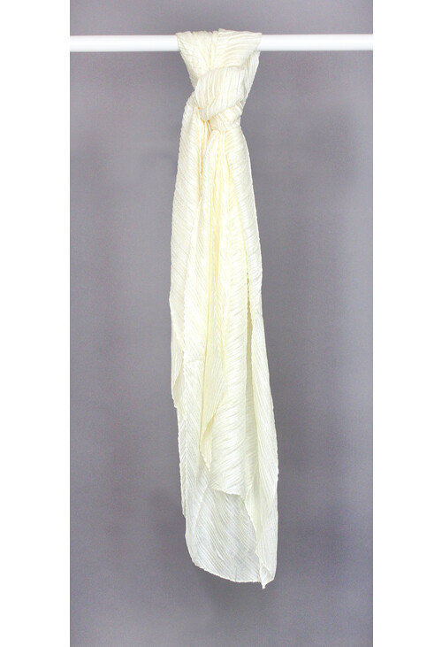 Pamela Scott Light Yellow Pleated Scarf