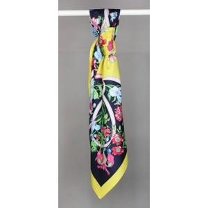 Pamela Scott Pink & Yellow Floral Print Scarf