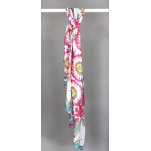 Best Angel Fushia Floral Pattern Print Scarf