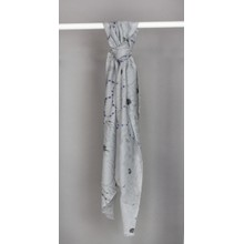 Best Angel Gris Pattern Print Scarf