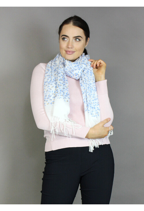 Best Angel Blue Leopard Print Accessory Scarf