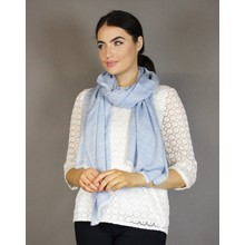 Pamela Scott Blue Mini Design Accessory Scarf