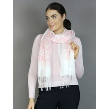 Best Angel Pale Pink Leopard Print Accessory Scarf