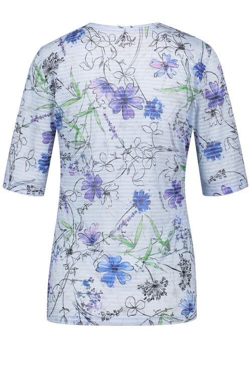 Gerry Weber Blue, Purple & Pink Floral Print Top