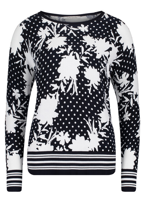 Betty Barclay Black & White Floral Print Top