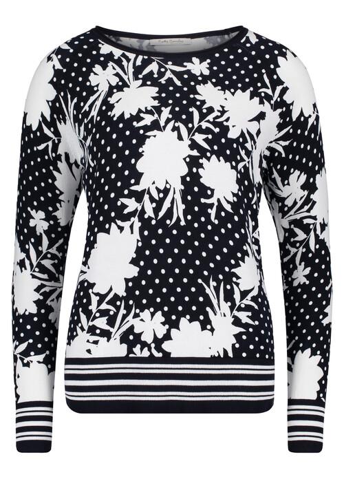 Betty Barclay Black & White Floral Print Top