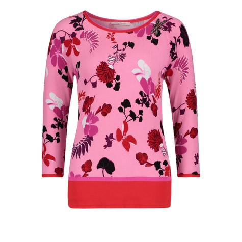Betty Barclay Candy Pink Floral Detail Top