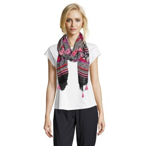 Betty Barclay Red & Black Print Mix Scarf