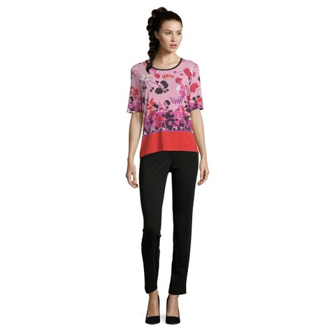 Betty Barclay Red & Rose Floral Print Top