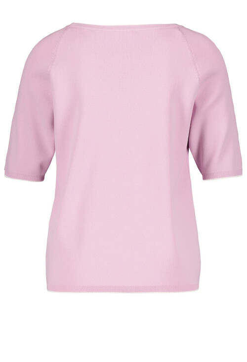Gerry Weber Lilac Short Contrasting Edges Sleeve Top