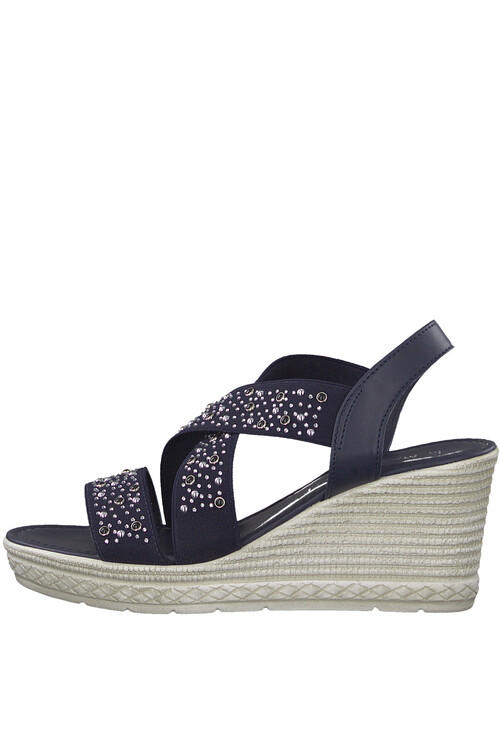 Marco Tozzi Navy Lightweight Wedge Sandal