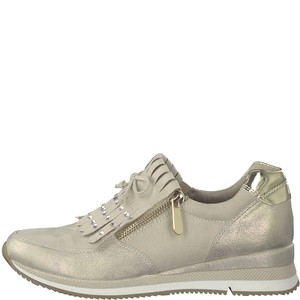 Marco Tozzi Nude & Gold Golf Style Casual Shoe