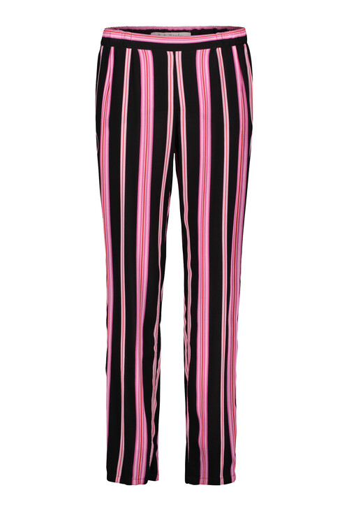 Betty Barclay Black/Rosé Stripe Slip On Trousers