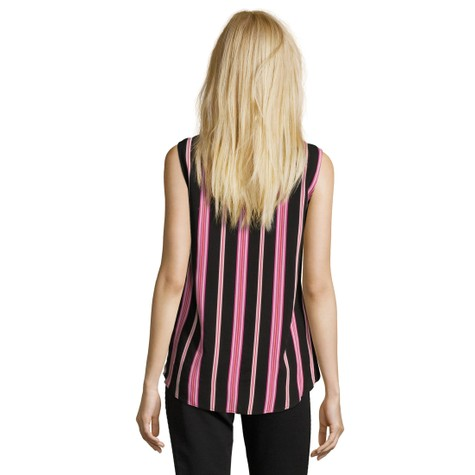 Betty Barclay Black/Rosé Strip Sleeveless Top