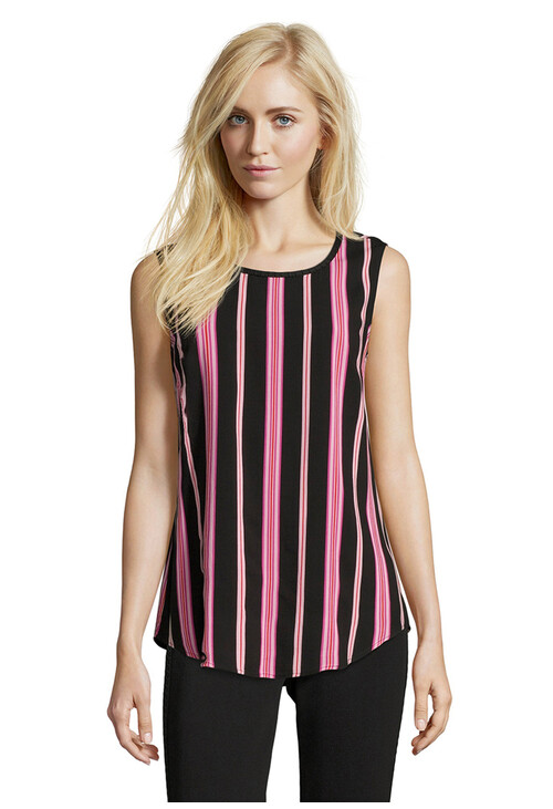 Betty Barclay Black/Rosé Stripe Sleeveless Top
