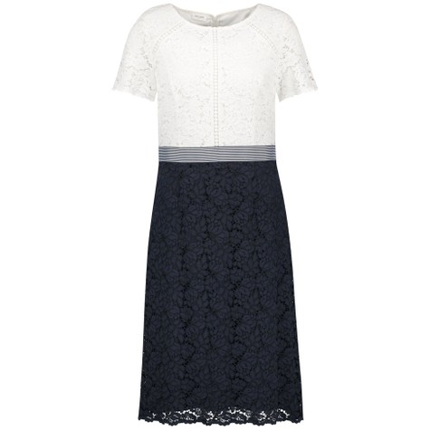 Gerry Weber Blue / Ecru / White Patch Dress