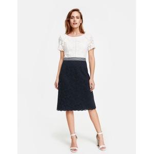 Gerry Weber Blue / Ecru / White Patch Dress