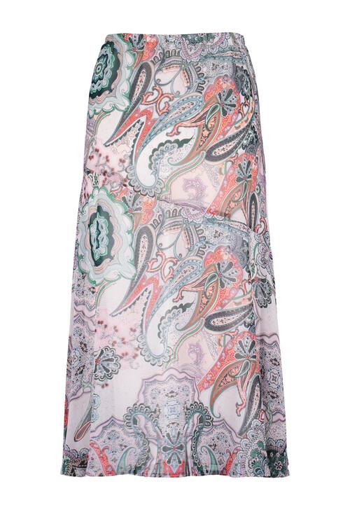 Gerry Weber Purple / Pink / Green Print Rock Me Paisley Pattern Skirt