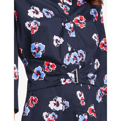 Gerry Weber Azure / Fire / Ecru print Blouse dress with waistband