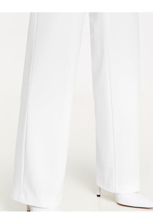 Gerry Weber Off White Marlene pants with wide waistband