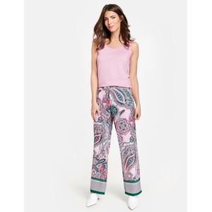 Gerry Weber Purple / Pink / Green Print Paisley Print Pants