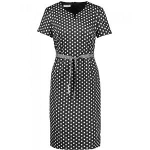 Gerry Weber Black & White Polka Dot Belt Dress