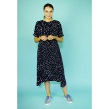 London Times Black & White Polka Dot Dress