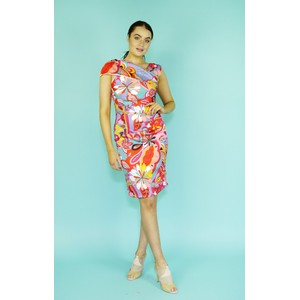 Zapara Pink Pucci Design Print Dress