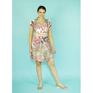 SophieB Multi-Colour V-Neck Print Dress*