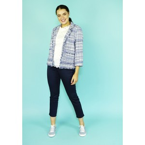 EFRO Royal Blue Check Chanel Style Jacket