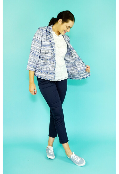 EFRO Royal Blue Check Jacket
