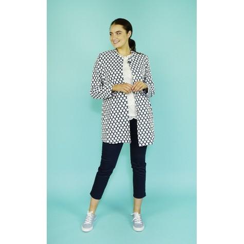 EFRO Cream & Navy Spot Pattern Jacket