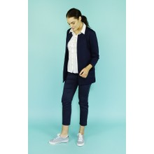 SophieB Navy Longline Open Jacket